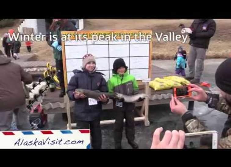 Ice fishing in the Mat-Su Valley, Alaska