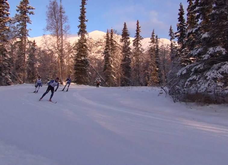 Skiing at Government Peak