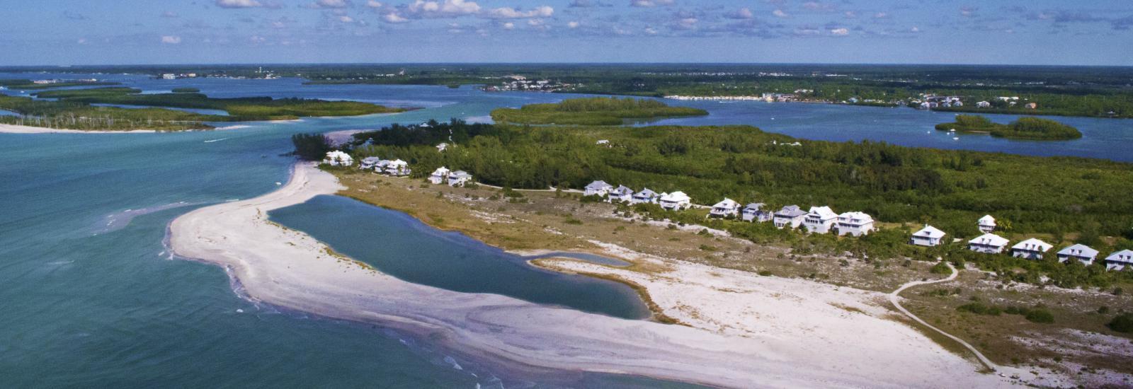 Aerial - Stump Pass & Palm Island Resort
