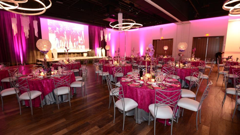 Ballroom setup at the Exchange at Bridge Park