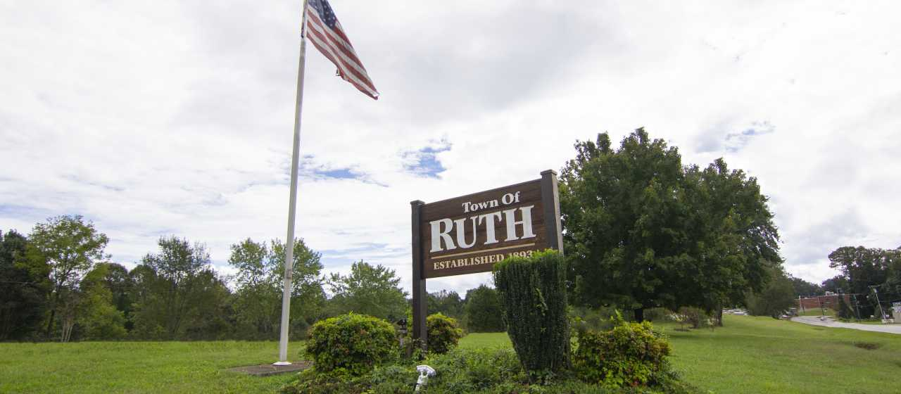 Ruth, NC welcome sign}