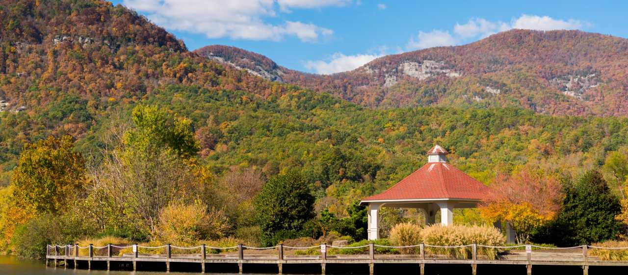 Fall in Lake Lure by Morse Park}