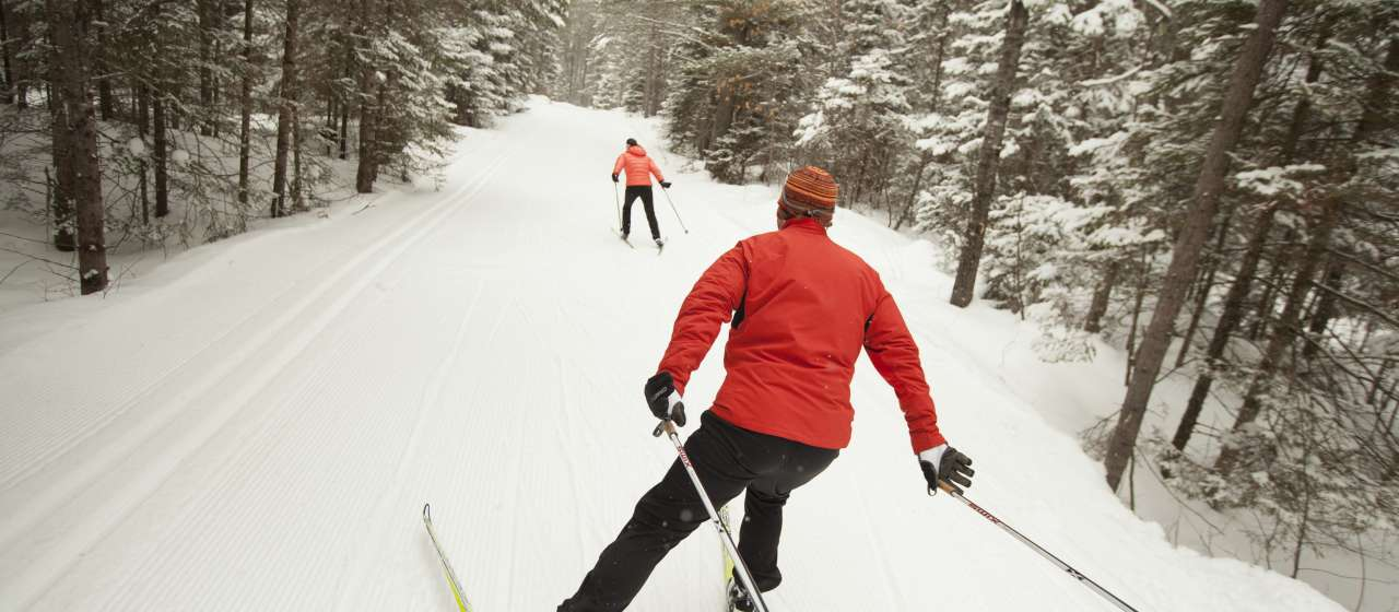 Cross-country skiing in Minocqua, WI