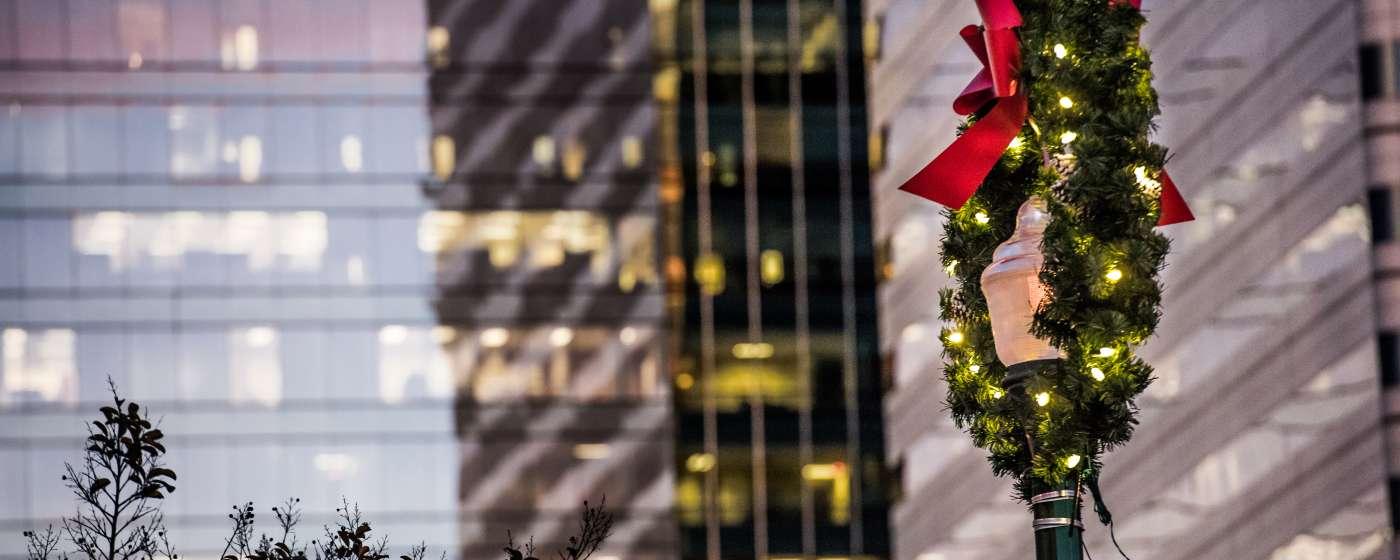 Main Street Cityscape in Downtown Columbia - Christmas