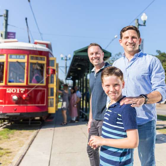 LGBT Family Rides the Streetcar