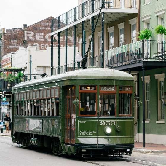 Streetcar downtown