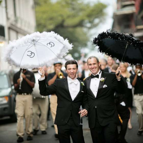 gay wedding in the French Quarter