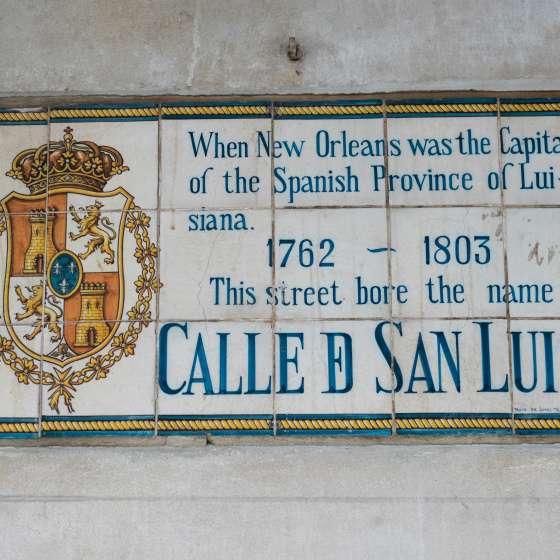 Spanish History Street Signs