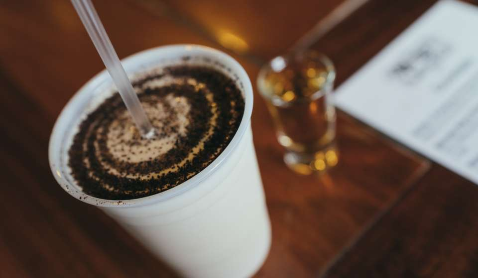 Frozen Irish Coffee at Molly's at the Market