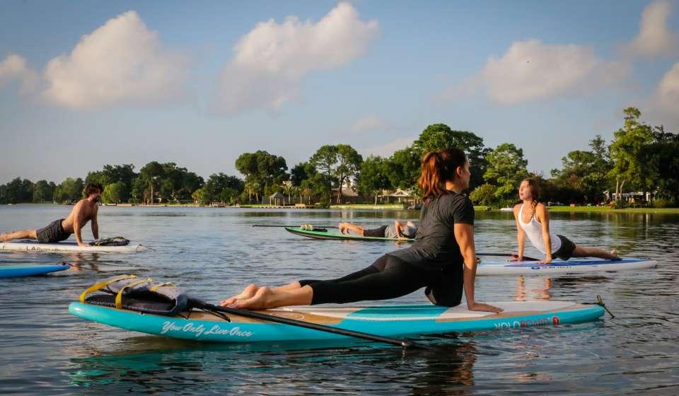 Yoga Paddle Boarding Class-Nola Paddleboards