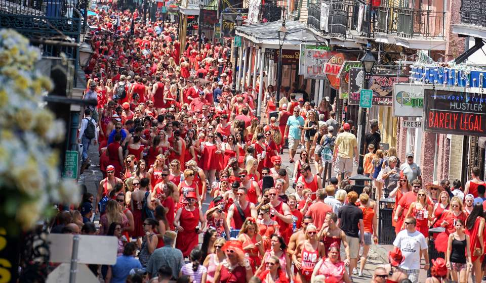 Red Dress Run 2015 - Bourbon Street