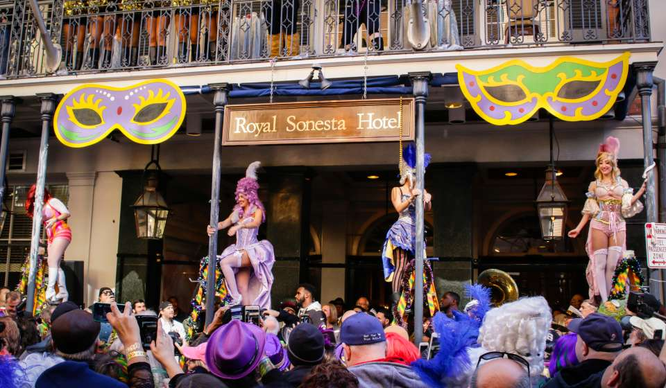The Greasing of the Poles - Bourbon Street