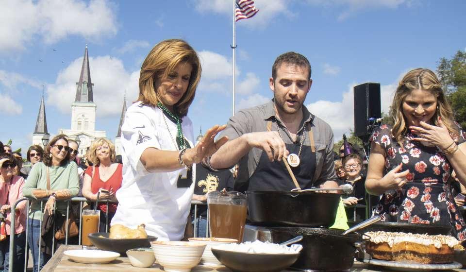 Michael Gulotta making gumbo