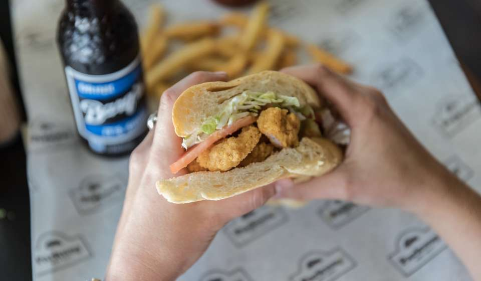 Fried Shrimp Po-Boy - Parkway Bakery