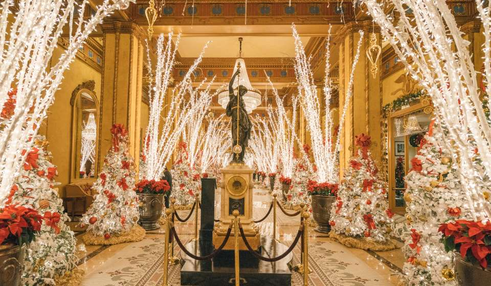 Holiday Decorations at the Roosevelt Hotel
