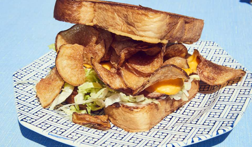 Fried Bologna Sandwich - Turkey and the Wolf