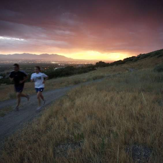 Bonneville Shoreline Trail Running