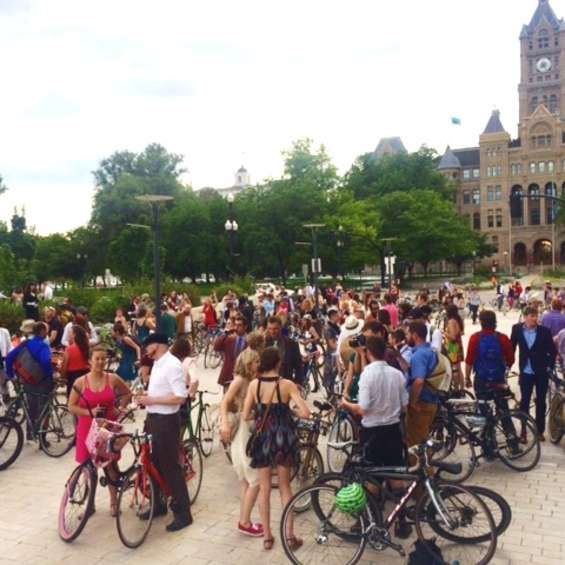 Bike Prom at Library Square