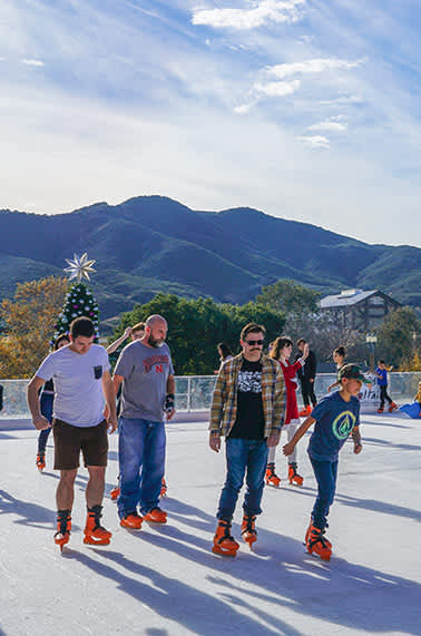 Ice Skating in Old Town Temecula