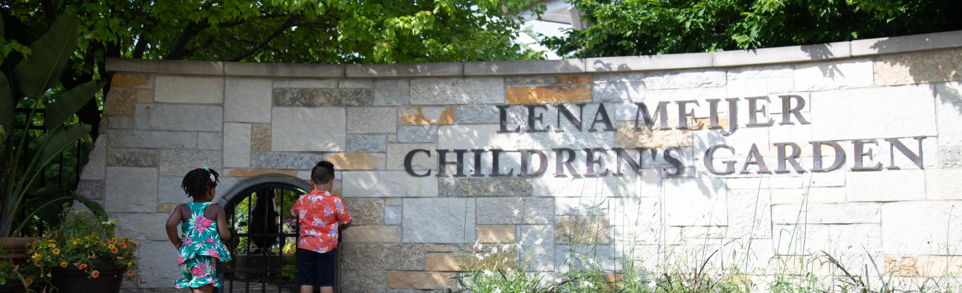 Children entering the Lena Meijer Children's Garden at Frederik Meijer Gardens & Sculpture Park