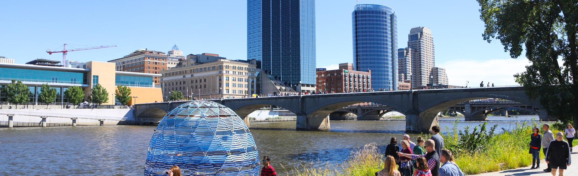 ArtPrize, an international art competition, was founded by Rick DeVos, grandson of the late Richard and Helen DeVos. Pictured is the piece Harvest Dome 3.0 by SLO Architecture at ArtPrize 2018.