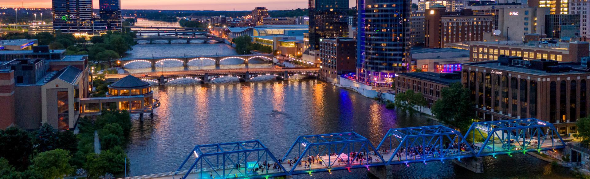 The Blue Bridge will be the site for Rafael Lozano-Hemmer's installation: <i>Voice Bridge</i>.