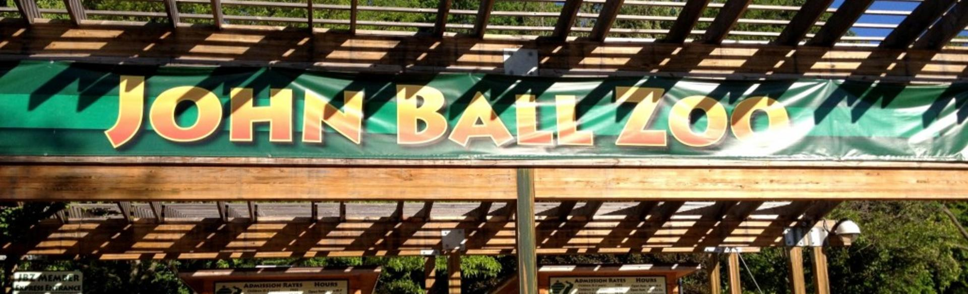 """Just steps away from the John Ball Zoo entrance, John Ball Park is the """"home"""" of Oktoberfest West Michigan. The park includes picnic areas, playgrounds, biking, hiking/walking, access point for Kent Trails, and pond."""