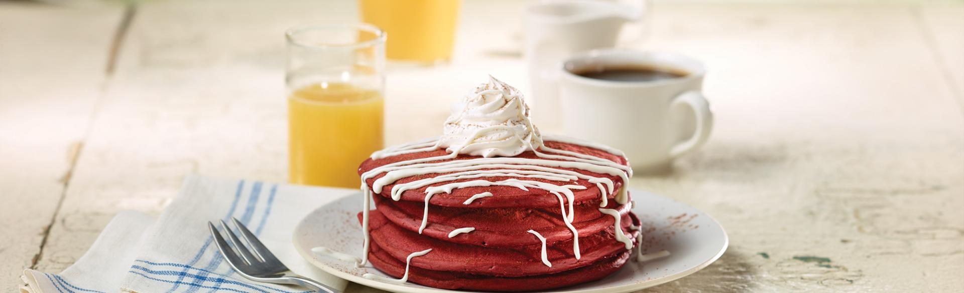 Red Velvet Pancakes at Anna's House in Grand Rapids