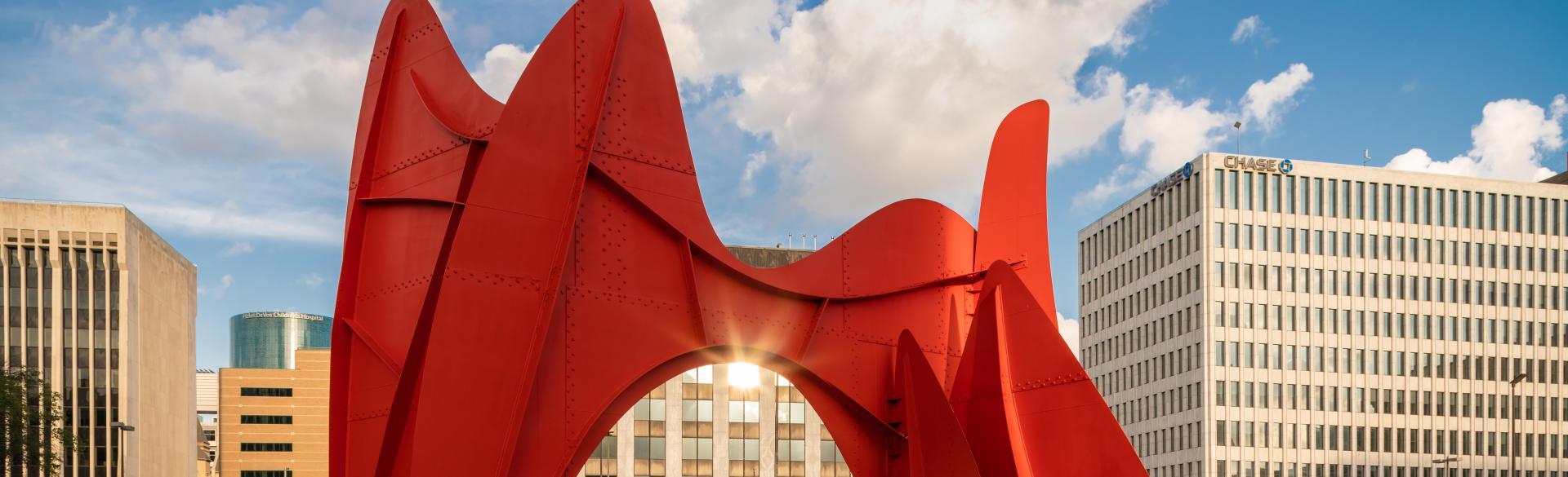 La Grande Vitesse, Alexander Calder - Detail