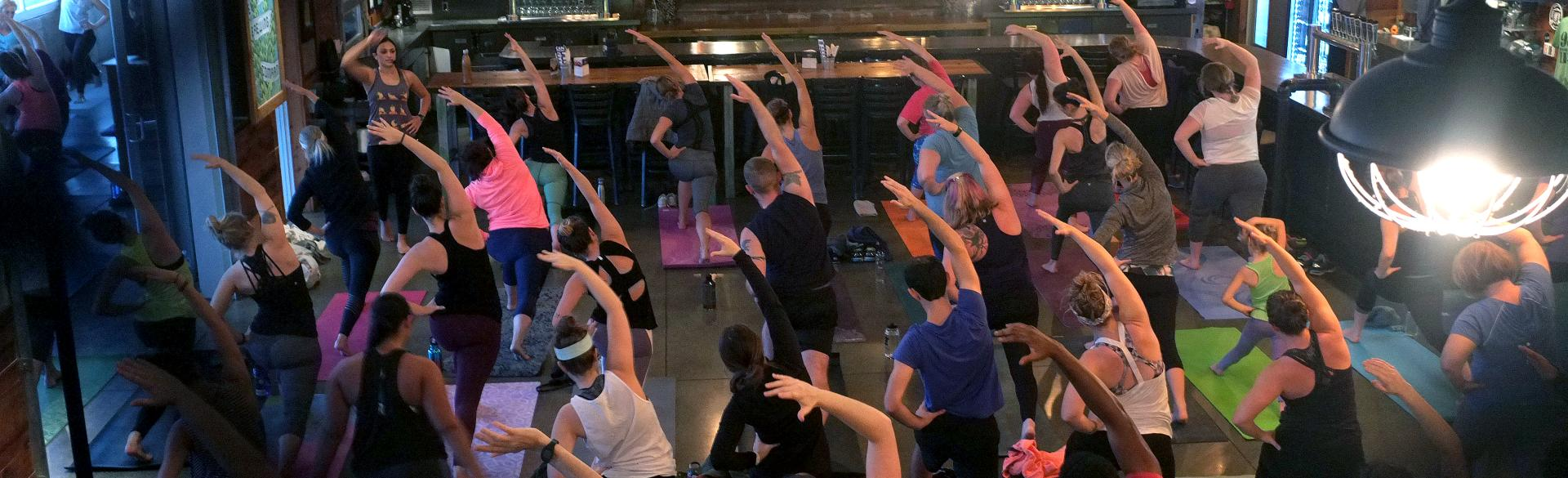 Yoga at Perrin Brewing