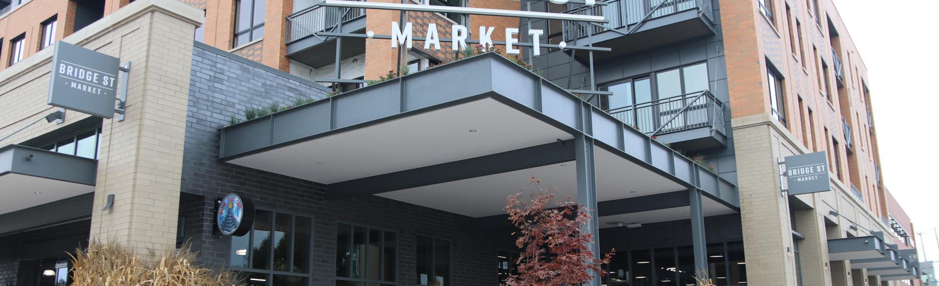 Front entrance to Bridge Street Market