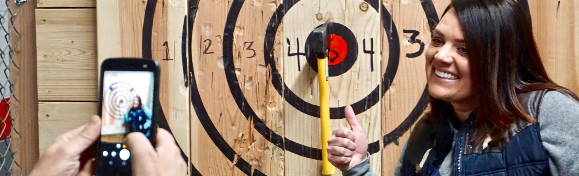 Hitting the Bullseye at Target Axe Throwing
