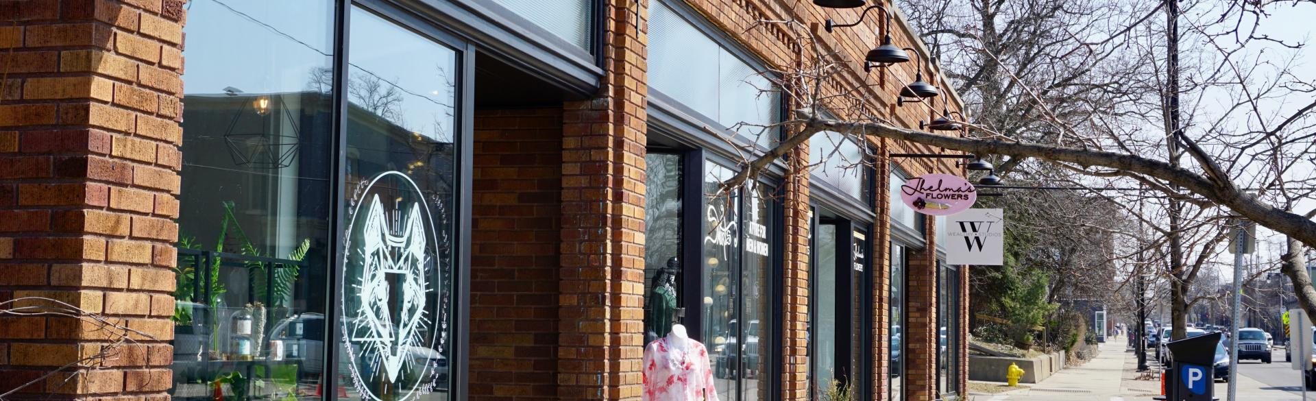 Shop around some of the locally-owned businesses within a block of the bakery.