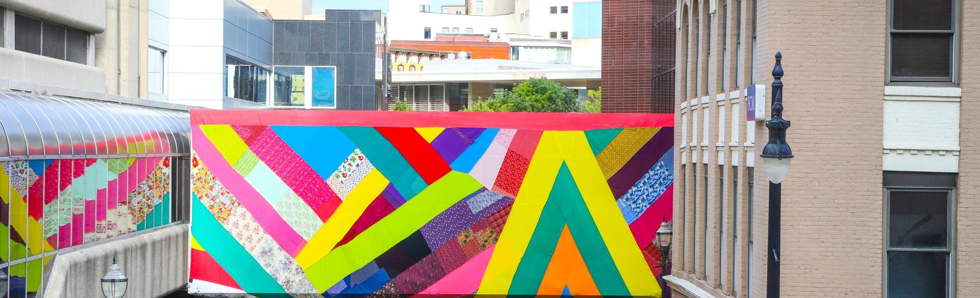 Kaleidoscopic by Amanda Browder - Campau Skywalk