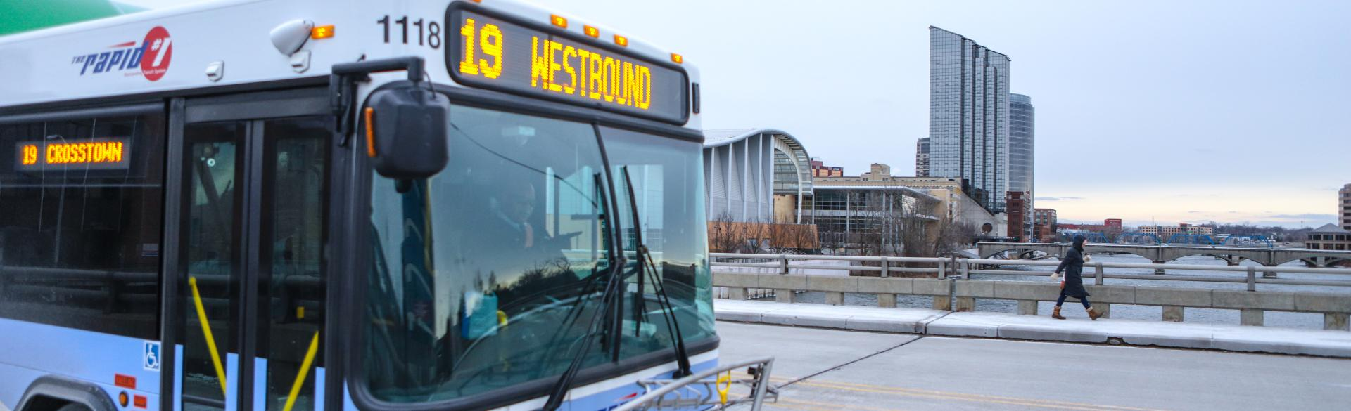 The Rapid Route 19 westbound bus