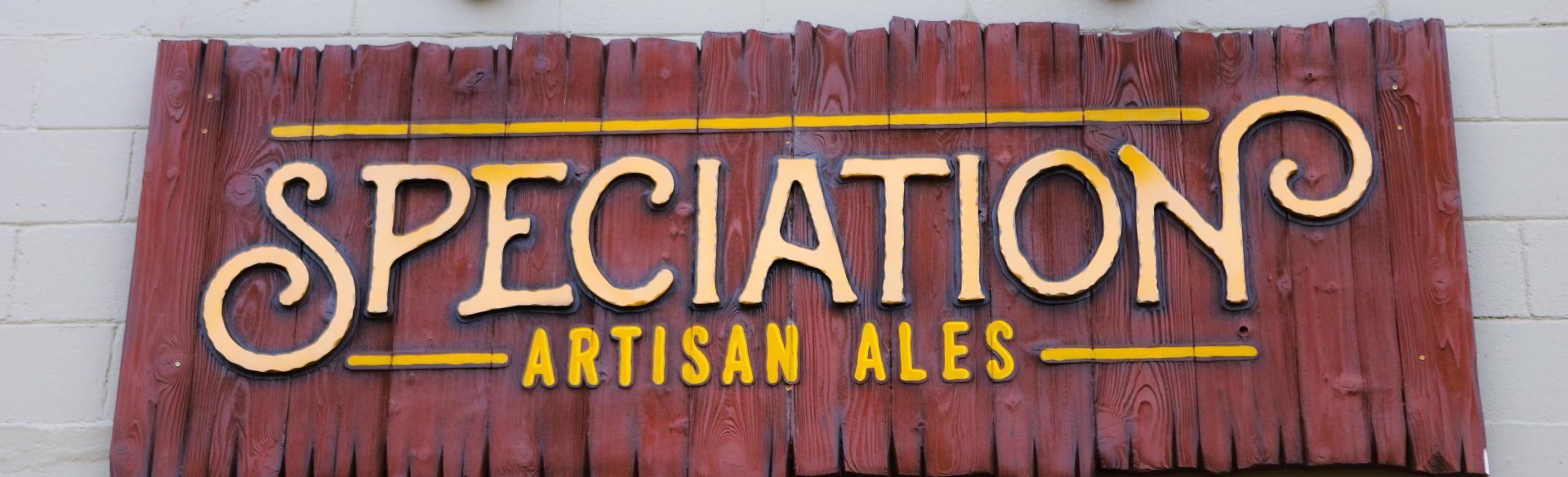 Speciation Artisan Ales sign