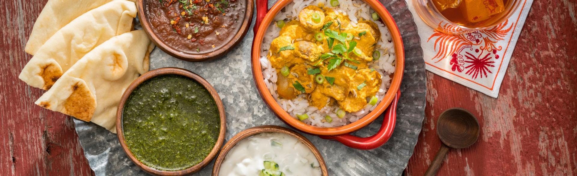 Restaurant Week Indian platter