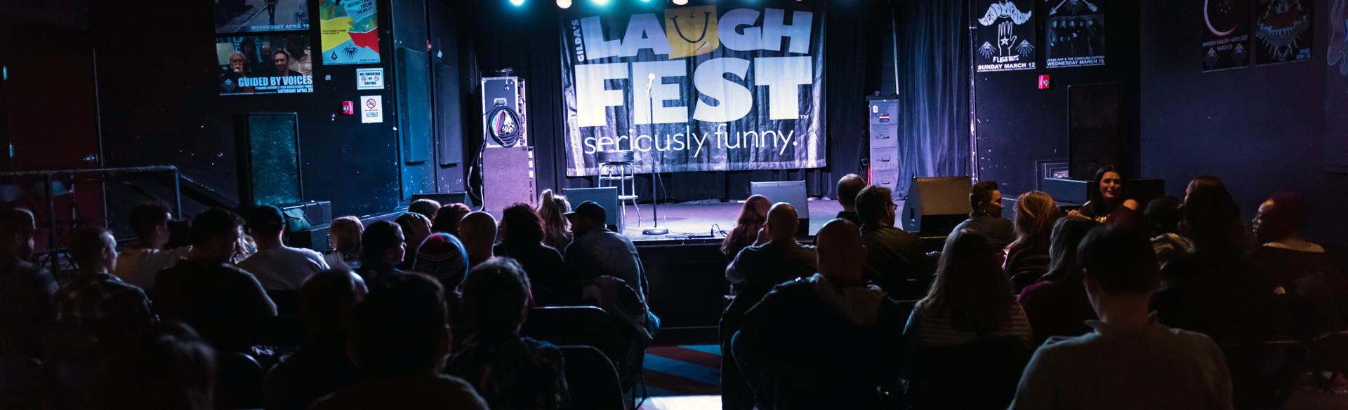 Audience at LaughFest