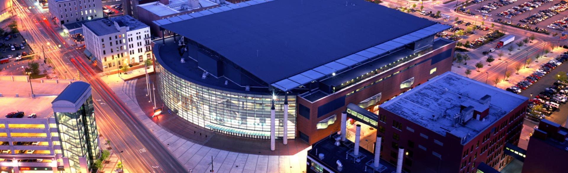 Van Andel Arena at night