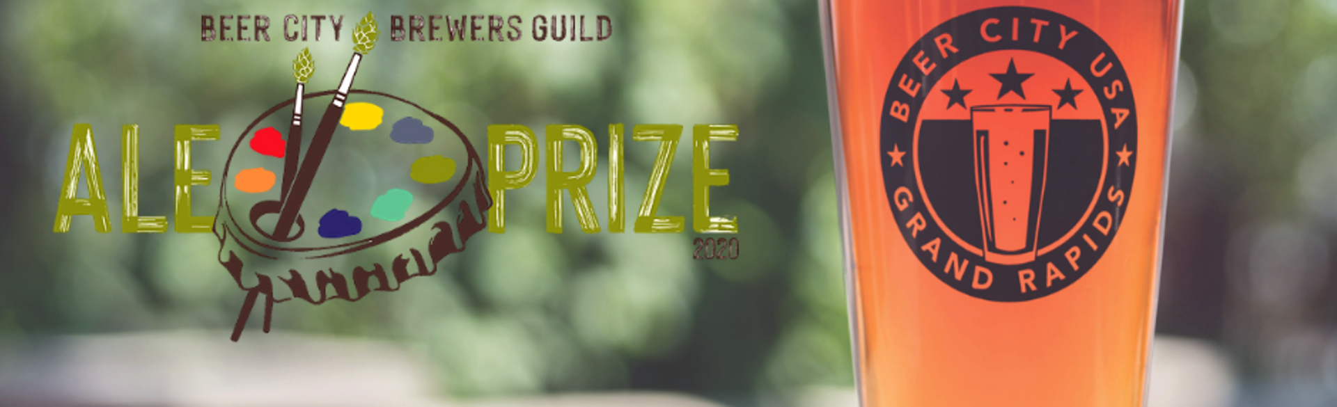 Beer City Brewers Guild Ale Prize 2020 Logo and Glass of Beer