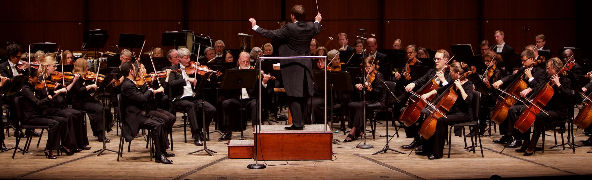 Grand Rapids Symphony performing lead by Marcelo Lehninger