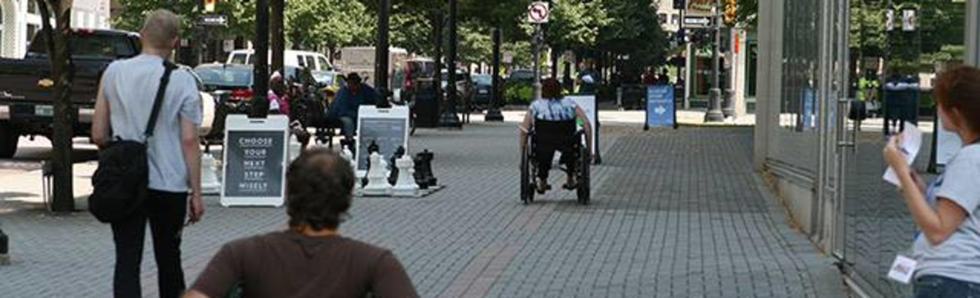 Wheelchairs Downtown