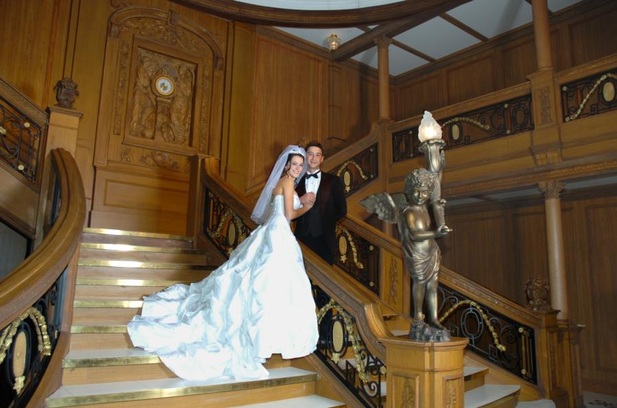 Married On The Anic Grand Staircase