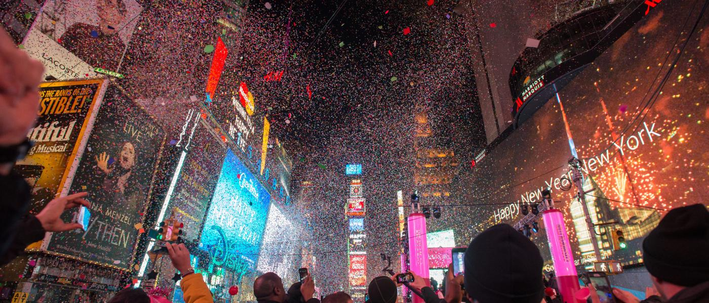 times square ball drop new years eve nye nyc company invites