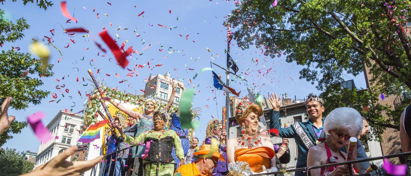Pride Parade, float, west village, manhattan, nyc