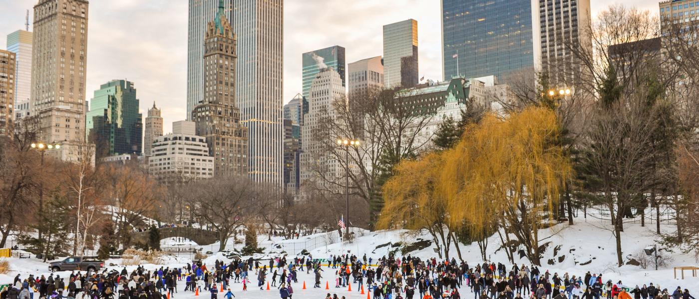 Wollman rink, winter, central park, ice skating,