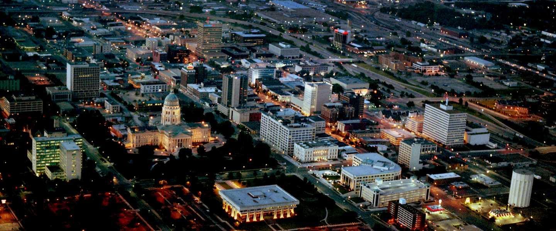 City of Topeka at Night