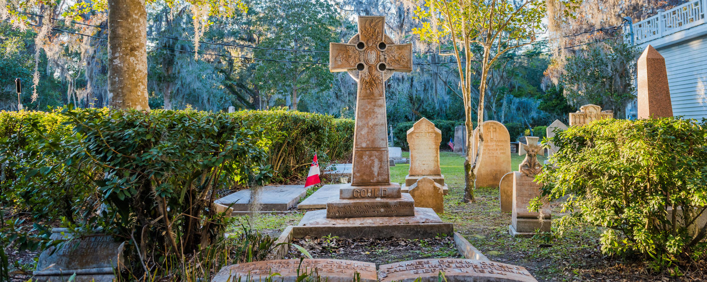 Gravestones in Christ Church Cemetery, St. Simons Island, GA