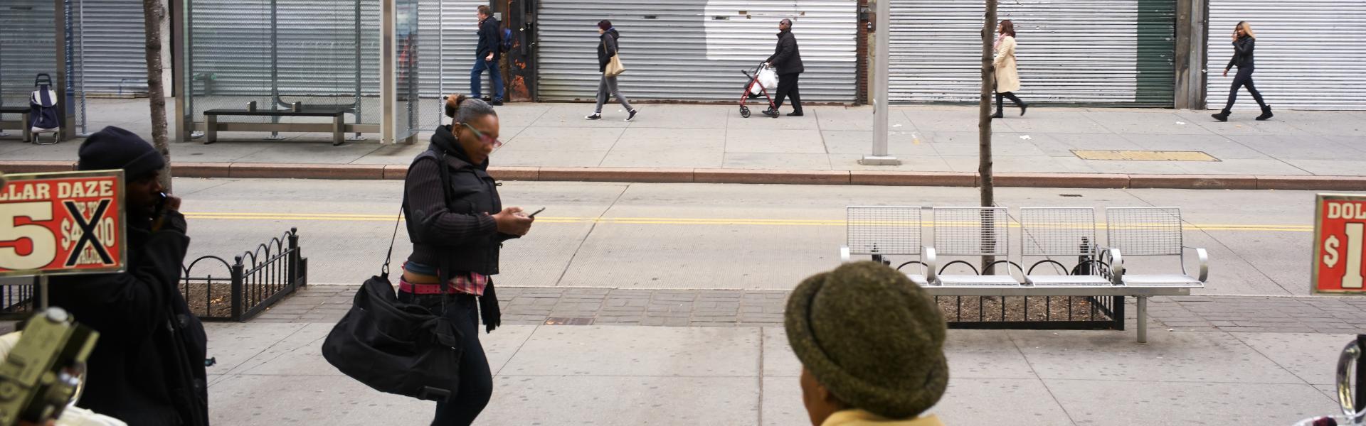 Downtown Brooklyn, NYC, street scene, Gus Powell