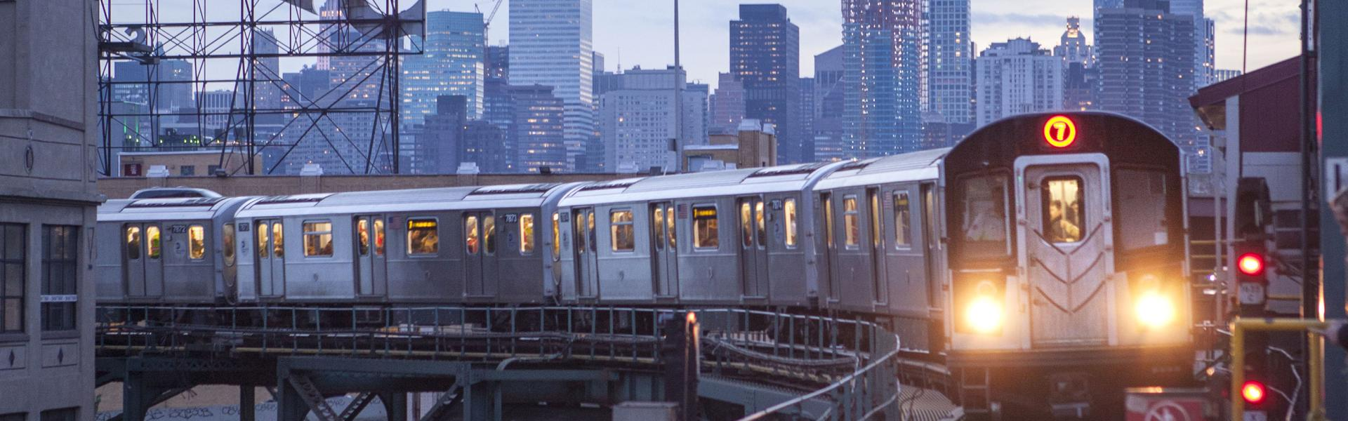 7 Train, Queens, Skyline, Dusk